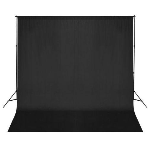 vidaXL Zestaw do zawieszenia wraz z tłem fotograficznym. Czarny. (8718475820826)