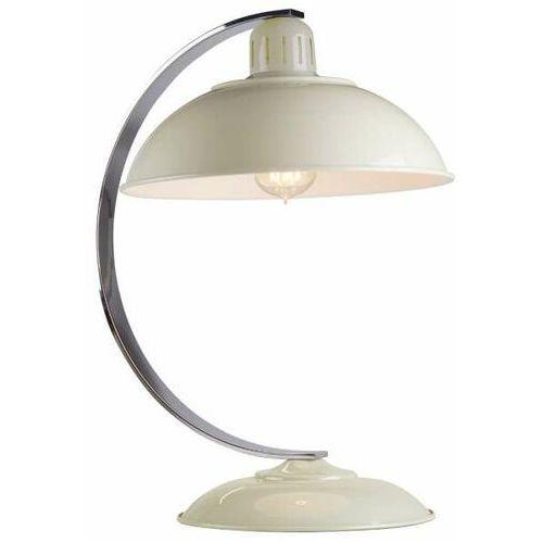 Biurkowa LAMPKA stojąca FRANKLIN CREAM Elstead vinrage LAMPA stołowa retro metalowa kremowa