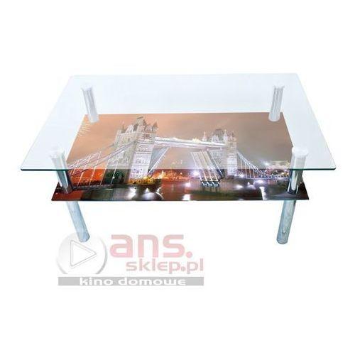 Szkłomal PROSTOKĄT MINI GRAFIKA - Ława szklana, 90x60 cm