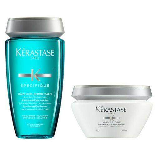 Kerastase Zestaw do włosów wrażliwych | Dermo-Calm Vital Bain 250ml, Hydra-Apaisant Mask 200ml (9753198542001)