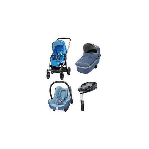 W�zek wielofunkcyjny 4w1 Stella + Cabrio Fix + Baza Maxi-Cosi + GRATIS (Frequency Blue)