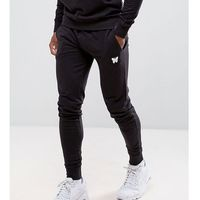 skinny joggers in black with small logo - black, Good for nothing, XS-L