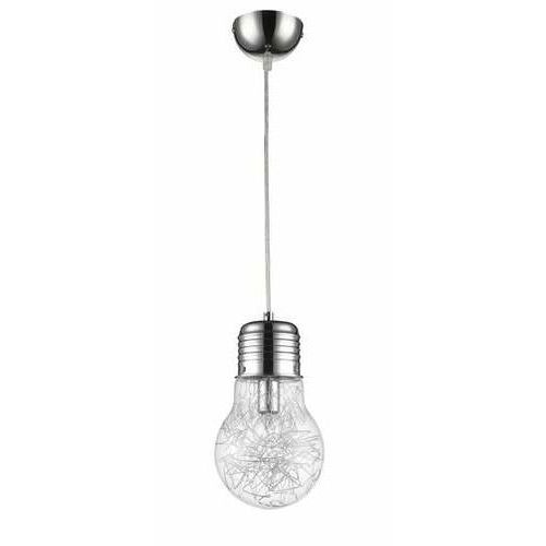 Lampa wisząca zwis Krislamp Flo 1x40W E14 przezroczysta KR162-1