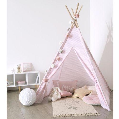 Namiot dla dzieci, INDIAŃSKI, TIPI, 120 x 120 x 160 cm, różowy