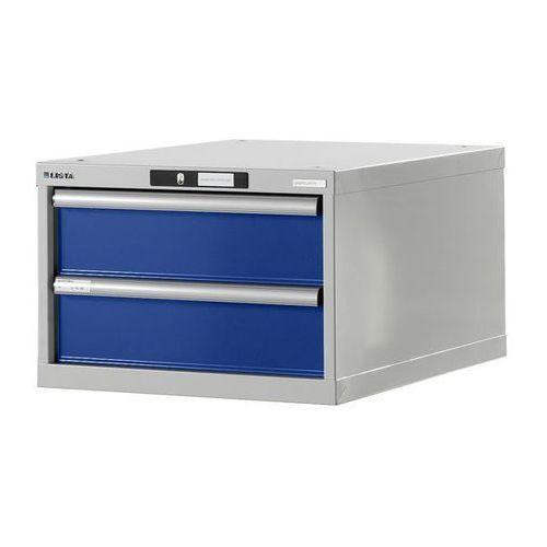 Stół warsztatowy w systemie modułowym, szafka dolna,wys. 383 mm, 2 szuflady marki Lista