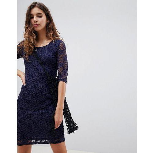 lace midi dress - navy marki Glamorous