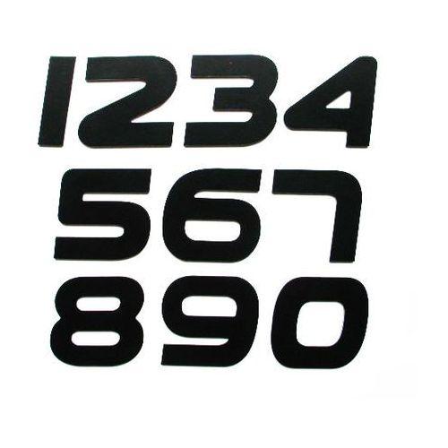 Numer, Numery, Cyfra, Cyfry na drzwi, czarne wys. 7 cm PEP