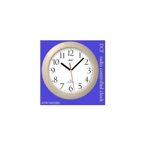 Atrix Duży zegar drewniany sterowany radiowo #2
