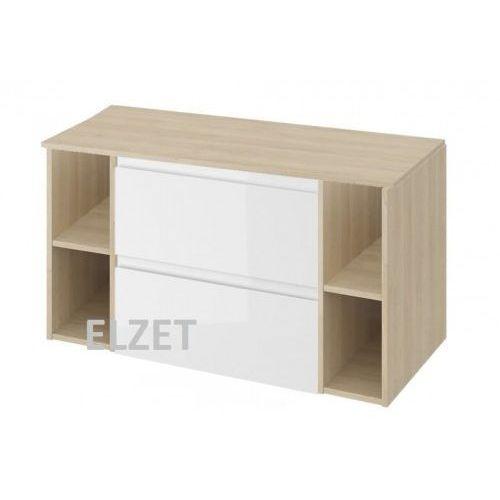 CERSANIT szafka Moduo biały połysk pod umywalkę nablatową + 2 x moduł otwarty + blat 100 S929-010+2xK116-020+S590-024