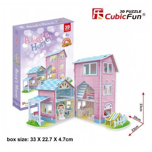Puzzle 3d alisa's home domek dla lalek 74 elementy marki Cubicfun