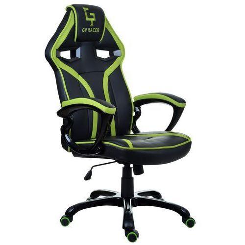 Giosedio Fotel biurowy czarno-zielony,model gpr047 (5902751541779)