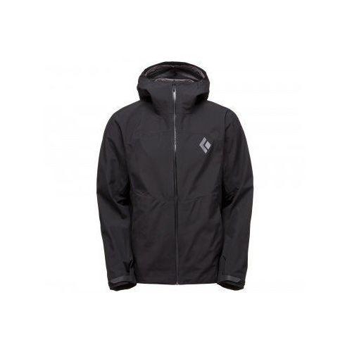 liquid point kurtka mężczyźni czarny l 2018 kurtki przeciwdeszczowe marki Black diamond