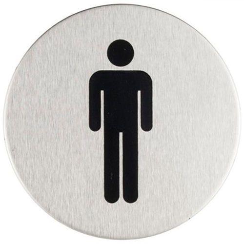 Sanitario Oznaczenie toalet metalowe okrągłe - wc męskie (5902767346641)