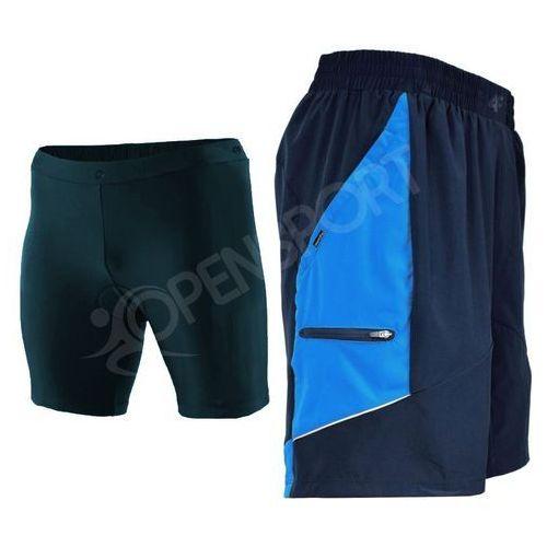 Spodnie rowerowe 3w1 z wkładką h4l17 rsm002 granat l marki 4f