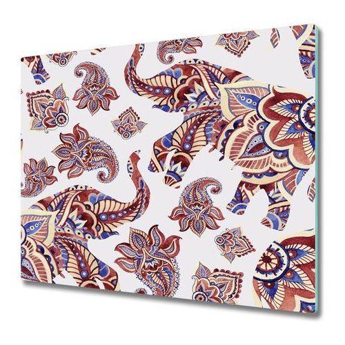 Tulup.pl Deska kuchenna słonie ornamenty