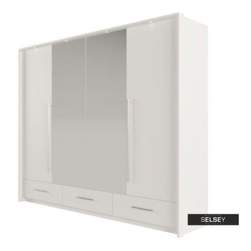 SELSEY Szafa z lustrem Trollson drzwi składane 255 cm (5900000071208)