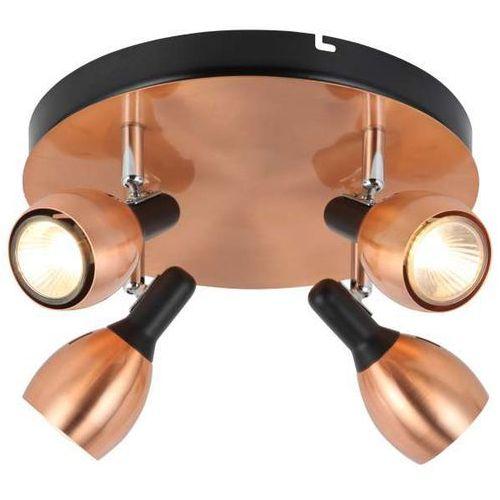 Plafon LAMPA sufitowa CROSS 98-34878 Candellux reflektorowa OPRAWA spot okrągły miedziany, kolor Miedziany