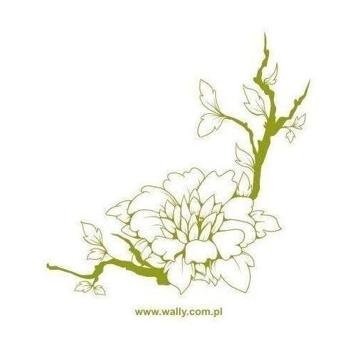 Wally - piękno dekoracji Naklejka gałąź kwiaty 1435
