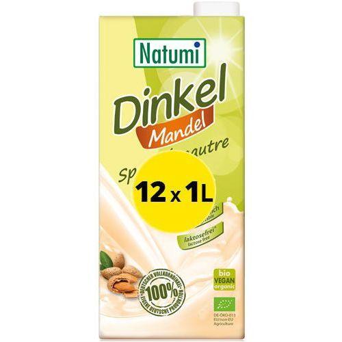 - bezmleczny napój mleko orkiszowo-migdałowe 12x1l zestaw eko marki Natumi