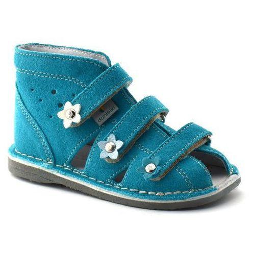 Dziecięce buty profilaktyczne s124/s134 turkus marki Danielki