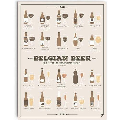 Plakat Belgian Beer 21 x 30 cm, BBSEN2130