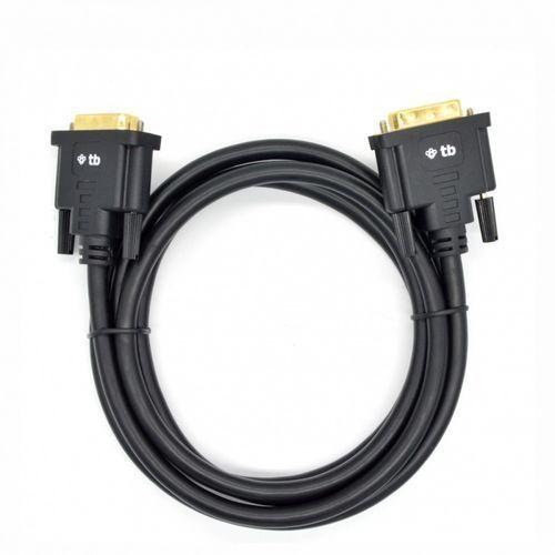 Kabel DVI M-M 24+1 1.8 m. czarny, pozłacany (5901500504546)