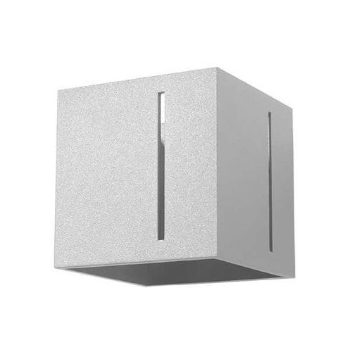 Kinkiet LAMPA ścienna SOL SL396 kwadratowa OPRAWA metalowa kostka cube szara, SOL SL396