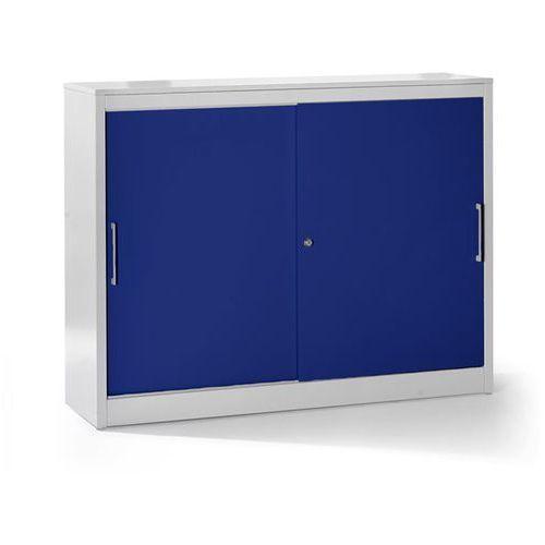 Szafa z drzwiami przesuwnymi, szafka boczna, 4 półki, ścianka działowa, wys. x s