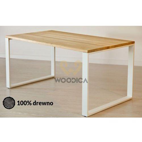 Woodica Stół dębowy na metalowych nogach 10 160x75x90