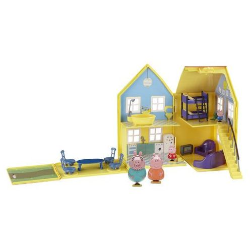 Tm toys Toy options. deluxe peppa pig playhouse - domek świnka peppa z figurkami [od 18 mies.] - (5029736048402)