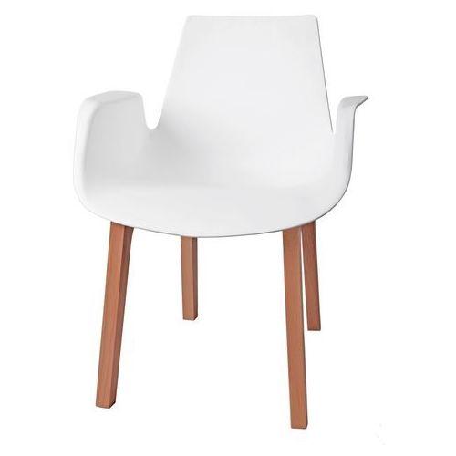 Krzesło Mokka białe, drewniane nogi MODERN HOUSE bogata chata, kolor biały