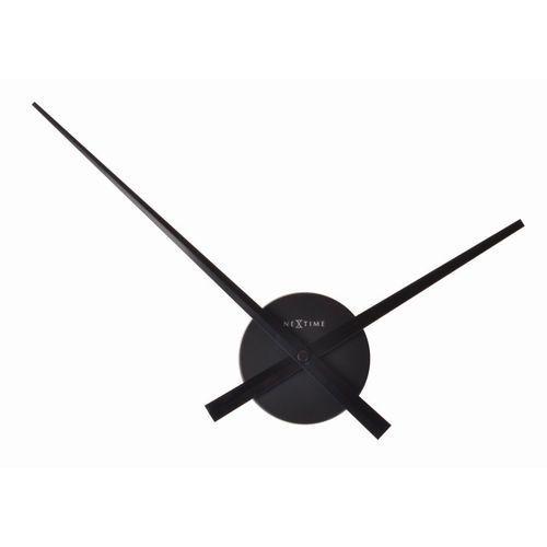 - zegar ścienny mini hands 41 cm - czarny marki Nextime