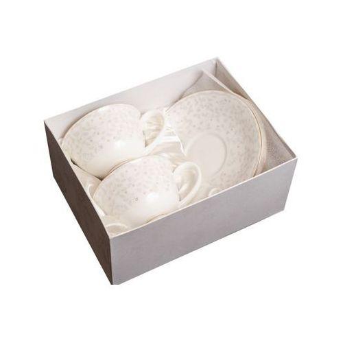 Marco polo 2 filiżanki porcelana kostna na prezent w pudełku