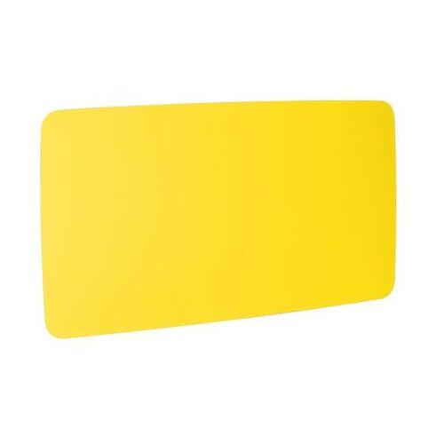 Aj Tablica do pisania szklana z zaokrąglonymi krawędziami 2000x1000 mm żółta