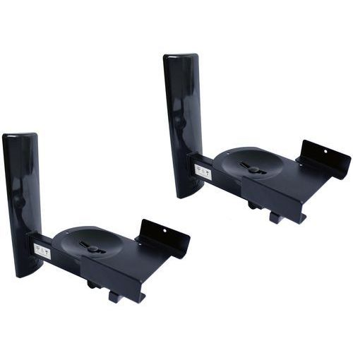 B-Tech BT77 Ultragrip ProTM uchwyt naścienny na głośniki do 25 kg, uchylne i obracane, czarne, 1 para (5019318017704)