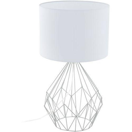 Eglo Lampa stołowa pedregal 1 z białym kloszem, 95187