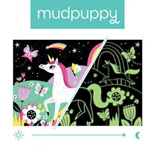 puzzle świecące w ciemności jednorożce 100 elementów 5+ marki Mudpuppy