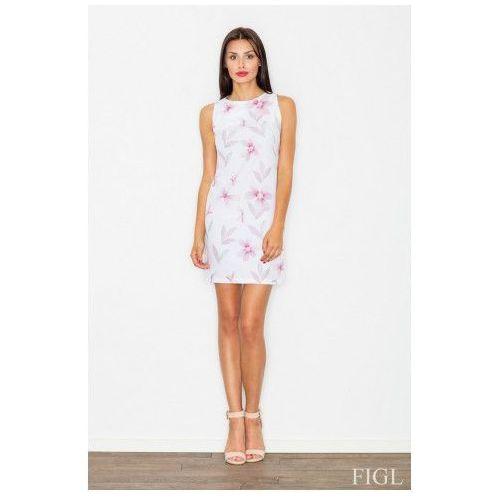 Sukienka Model M498 Wzór 9 White/Kwiaty, matt_62990