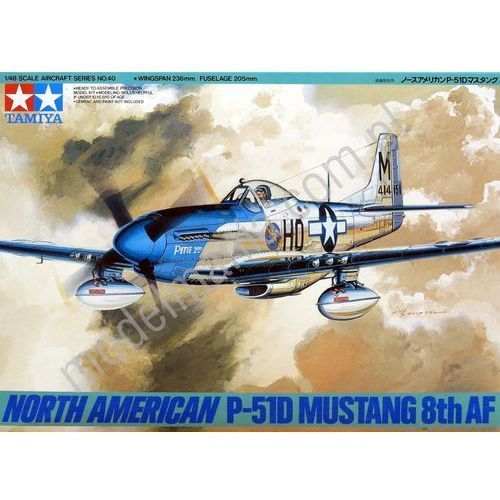 north american p- 51d mustang marki Tamiya