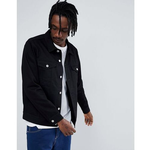 single jacket rinsed black - black marki Weekday