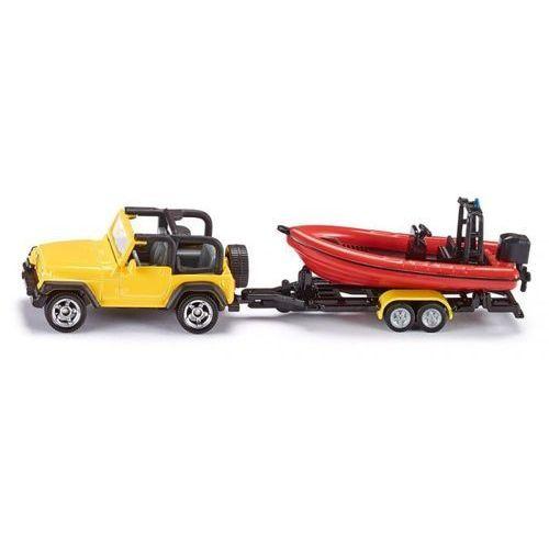 16 - jeep z łodzią marki Siku