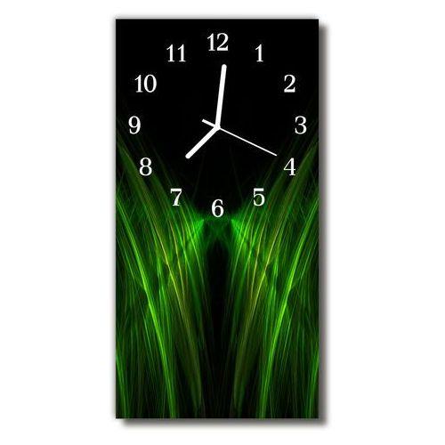 Zegar Szklany Pionowy Krajobrazy Linie abstrakcja zielony, kolor zielony