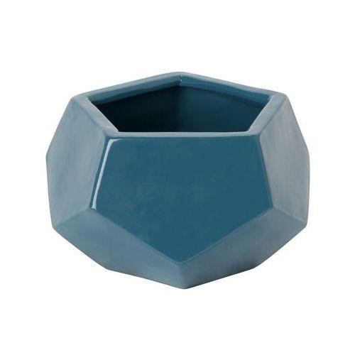 Doniczka ceramiczna GoodHome ozdobna 9 cm niebieska, C54