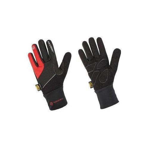 Accent Rękawiczki kolarskie ocieplane thermal czarno-czerwone
