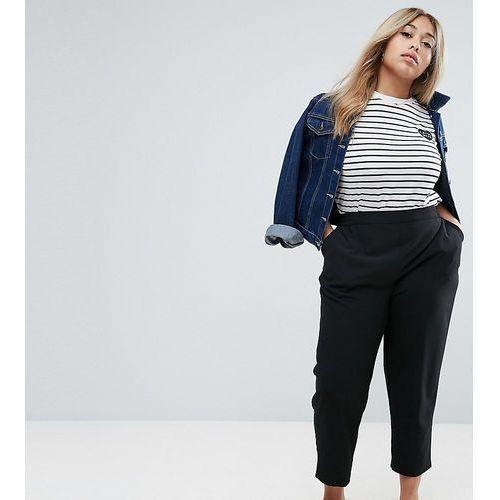 woven peg pull on trousers - black marki Asos curve