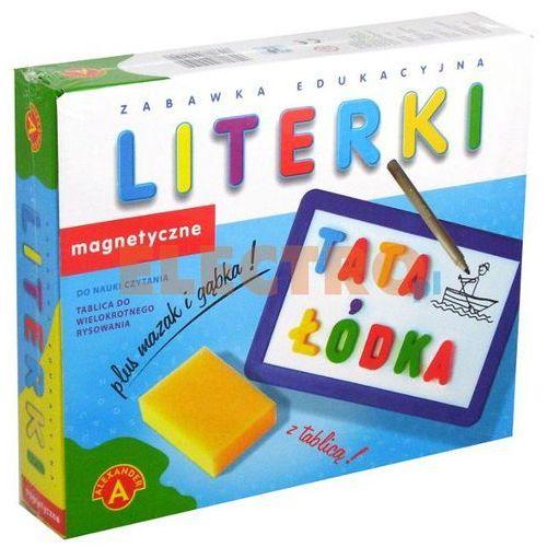 Alexander, Literki magnetyczne z tablicą, zestaw edukacyjny (5906018004199)