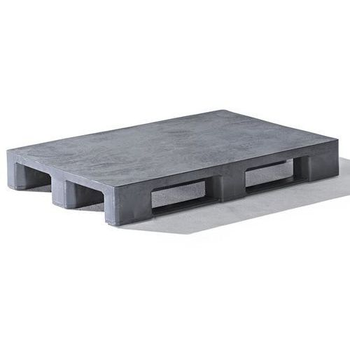 Kiga kunststofftechnik Paleta z tworzywa euro, bez krawędzi, powierzchnia zamknięta, antracytowy, od 10
