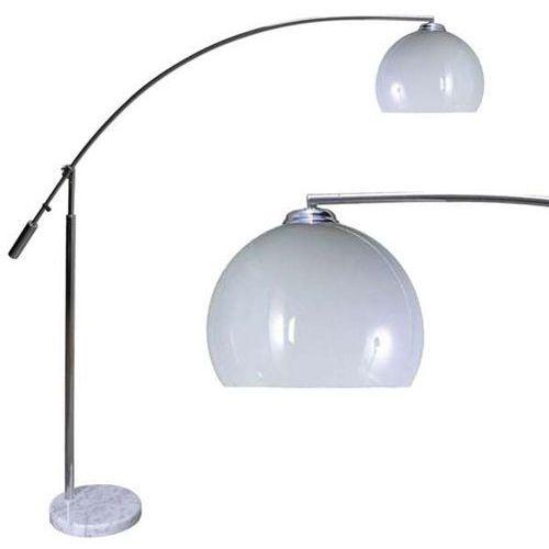 Zumaline Stojąca lampa podłogowa madison ts-061121f retro oprawa kula na długim ramieniu biała