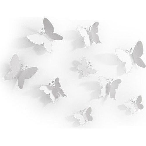 Dekoracja ścienna mariposa biała marki Umbra