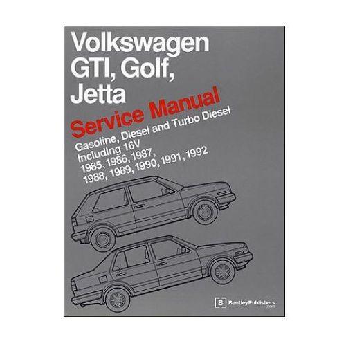 Volkswagen GTI, Golf, Jetta Service Manual 1985-1992 Now in Hardcover